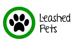 Leashed Pets Allowed Sign