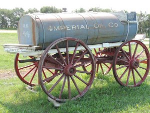 Imperial Oil Tank horse-drawn wagon