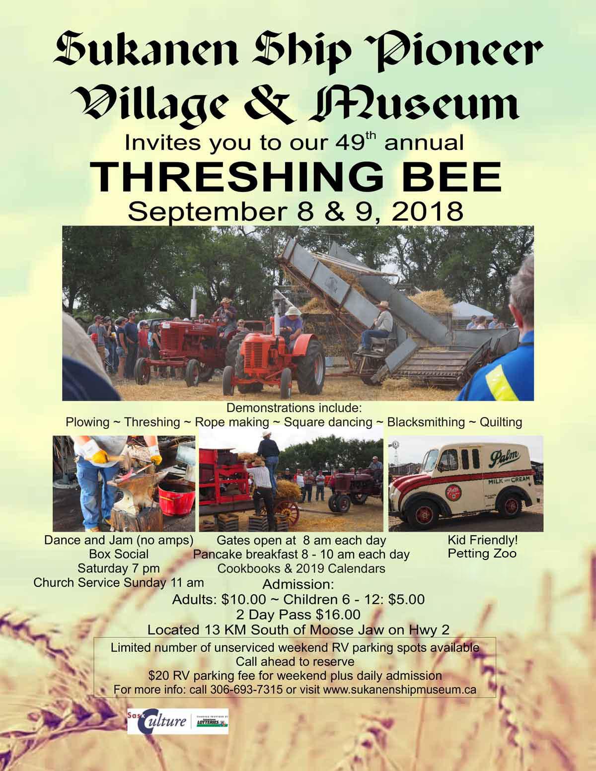 Sukanen Ship Pioneer Village & Museum Threshing Bee